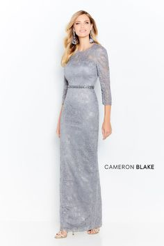 Cameron Blake by Mon Cheri - 120610 Stone Embellished Column Dress - Cameron Blake by Mon Cheri – 120610 Stone Embellished Column Dress - Formal Gowns With Sleeves, Cameron Blake, Column Dress, Mermaid Dresses, Special Occasion Dresses, Plus Size Dresses, Types Of Sleeves, Mother Of The Bride, Ball Gowns