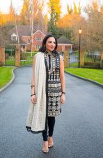 Mix and Match: Indian Outfit With a Leather Jacket - 4