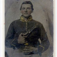 Photograph of Jesse M. Huffaker, Co. D, 3rd US Cavalry