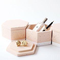 Concrete Hexagon Storage Box Silicone Mold – Bold Maker Studio