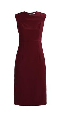 Classic wine red sheath dress   Ivy & Oak