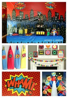 This superhero birthday party has tons of great ideas: DIY personalized capes, decorations, crafts and activities that can be done inexpensively and easily!
