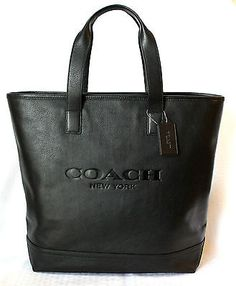 0faa028df COACH Mercer Tote Smooth Leather Carry All Travel Bag Black F71699 MSRP  550