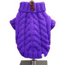 FouFou Dog Urban Knit Sweater, Purple, X-Large