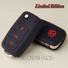 Volkswagen VW POLO Tiguan Passat B5 B6 B7 Gol Golf MK6 EOS Scirocco Jetta MK5 Silicone car key holder shell cover case keyring-in Stickers f...