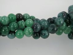 Green jade round beads 8mm. Emerald green. Mala jade. jewelry suppies. by Susiesgem on Etsy