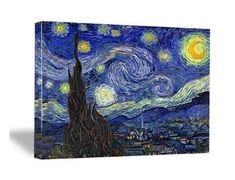 Starry Night by Van Gogh Famous Oil Paintings Reproduction #artnotcard #art #artist #passion