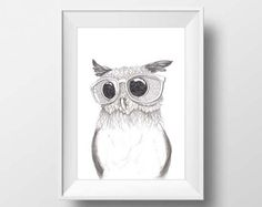 Nursery Printables The Nerdy Owl Baby Girl Gift by doneBYmargo Printing Services, Online Printing, Printable Art, Printables, Kids Room Art, Baby Owls, Baby Girl Gifts, Kids Decor, Love And Light