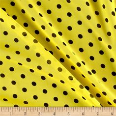 Online Shopping for Home Decor, Apparel, Quilting & Designer Fabric Sheer Chiffon, Chiffon Fabric, Yellow Background, Black Dots, Fabric Design, Special Occasion, Polka Dots, Scarfs, Feels