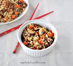 Easy Quinoa Stir Fry (Vegan and Gluten Free) - My Whole Food Life Healthy Cooking, Healthy Eating, Cooking Recipes, Clean Eating, Quinoa Stir Fry, Cooked Quinoa, Vegetarian Recipes, Healthy Recipes, Detox Recipes