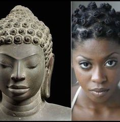 Are you seriously going to continue to insist that civilizations throughout the world were started from anything other than the greatness of 'black' skinned people ~ 'cause I'm not buyin' it ~ smh Ancient Egypt, Ancient History, Black Buddha, Black History Facts, African Hairstyles, African American History, Black Power, African Art, African Crown