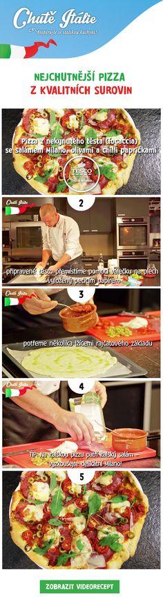 Připravte si chutnou pizzu podle našeho videoreceptu.