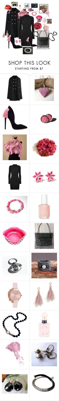 """Gift ideas for Valentine's Day!"" by justforyouhm ❤ liked on Polyvore featuring Chicwish, Cadeau, Balmain, Essie, BMW, Olivia Burton, Lizzie Fortunato, Miu Miu and Bésame"