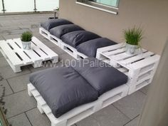 Pallets Lounge for my terrace  #Furniture, #Pallets, #Terrace