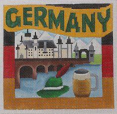 Denise Derusha Germany Hand Painted Needlepoint Canvas 18 Count | eBay- $53