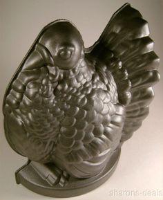 Nordic Ware Silver Turkey Bundt Pan Baking Bread Non Stick Aluminum Thanksgiving
