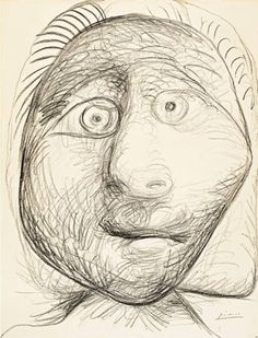 Pablo Picasso - Tête, 1972.
