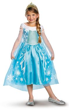 Disney Frozen Deluxe Elsa Toddler / Child Costume from CostumeExpress.com