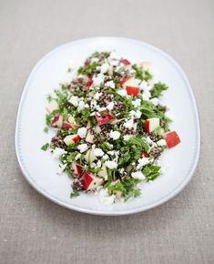 Salade de quinoa, chou et pommes