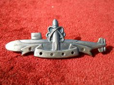 Vintage Navy Nuclear Submarine Pin by OpheliaNecrosAttic on Etsy,