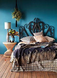 Boho Chic Style Bedroom.