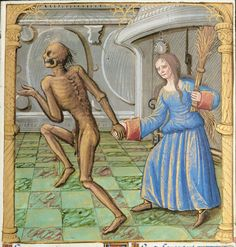 Your virtual eye on illuminated manuscripts, rare books, and the stories behind them. By Franco Cosimo Panini Editore. Danse Macabre, Macabre Art, Medieval Manuscript, Illuminated Manuscript, Bali, France, Weird, Death, Miniatures