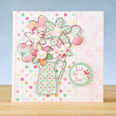 Floral from the Mini Mania Range. ranges available… Craftwork Cards, Country Charm, Box Frames, Hobbies And Crafts, Cardmaking, Color Schemes, Projects To Try, Greeting Cards, Paper Crafts