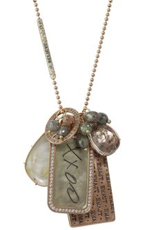Heather Moore custom handwriting ID tag necklace