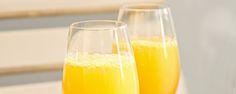 MIMOSA - resepti: 1/2dl vastapuristettua appelsiinimehua, 1 1/2 Korbel Brut -kuohuviiniä - Kaada valkoviinilasiin yksi osa vastapuristettua appelsiinimehua ja kolme osaa hyvin jäähdytettyä kuohuviiniä. Tarjoile heti.