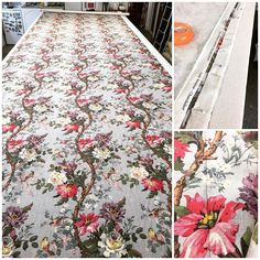 Something quite beautiful to work on today @libertylondon #ArtFabric #LadyKristina actually being #handcrafted by Kristina in our #Bedfordshire #workrooms