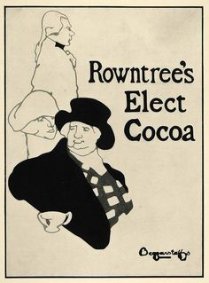Designed by the Beggarstaff Brothers (James Pryde and William Nicholson) in 1894 for Rowntree's Elect Cocoa (via periodpaper)
