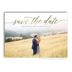 Save The Date Card Photoshop Template - Engagement Announcement Template - For Photographers - Photoshop Required - EMILY & MICHAEL - 1689 - Wedding And Engagement Winter Engagement Pictures, Country Engagement Pictures, Engagement Photo Poses, Fall Engagement, Engagement Shoots, Engagement Photography, Engagement Parties, Engagement Ideas, Cheap Save The Dates