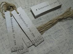 16 homemade for you tags in 2 tone brown/ kraft by RusticandSimple