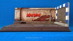 Diorama Cobblestone Street   Diorama Calle Adquines #slot #slotcar #diorama #scalextric #ninco #carrera #scx  #diorama #street #cobblestone #alotslot #calle #callejon #adoquines