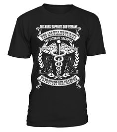 PatrioticThis Nurse Supports Our Veterans T-Shirt - Limited Edition