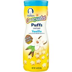 "Gerber Graduates Puffs Cereal Snack, Vanilla, Naturally Flavored with Other Natural Flavors, 1.48 ounce - Gerber Foods - Babies ""R"" Us"