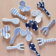箸置き / Ceramic butterfly chopstick rests & flatware chopstick rests