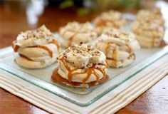 Almond Topped Caramel Dacquoise