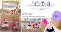 Photography Marketing Template Spring Mini Session - Digital Download
