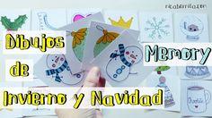 Juego de mesa hecho a mano. ¡Con #dibujos de #Navidad para #colorear!#Manualidades #dibujo de #invierno #DIY #juego #juguete #casero #memory #memoria