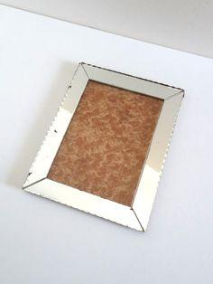 Cadre photo vintage en miroir biseauté