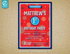 Printable Polka Dot Birthday Invitation