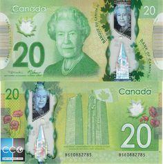 Le portrait de la reine Elizabeth II, chef d'État du Canada, a été gravé par Jorge Peral, vice-président de la conception et maître graveur à la Compagnie canadienne des billets de banque limitée. Retrouvez les caractéristiques du billet sur le site de la Banque du Canada : http://www.banqueducanada.ca/billets/series-de-billets-de-banque/polymere/graphisme/?_ga=1.205305300.519371255.1483962099