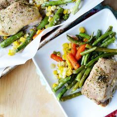 Cookie Sheet Italian Chicken and Veggies. A healthy one pan dish that is quick and easy.