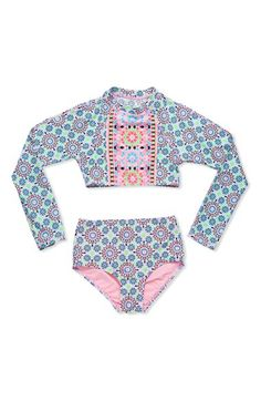 Free shipping and returns on Gossip Girl 'Star Crossed' Two-Piece Rashguard Swimsuit (Big Girls) at Nordstrom.com. A bold geometric print in vibrant hues styles a wave-ready two-piece rashguard swimsuit made for fun in the sun.