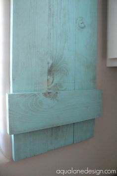 indoor shutters tutorial, Aqua Lane Designs on Remodelaholic