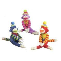 Colorful sock monkeys