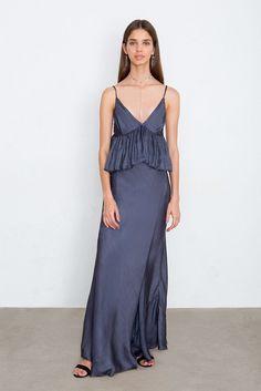 Ebony Silk Wrap Skirt - Chan Luu