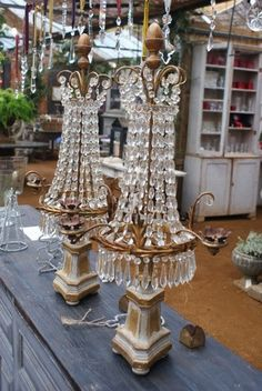 Italian Chandeliers at Petersham Nurseries