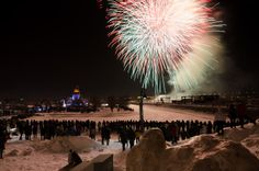 TELUS Fire on Ice lights up the Montreal winter sky